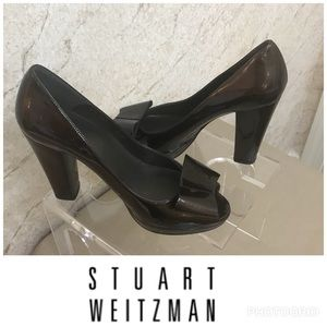 Stuart Weitzman Brown patent leather heels